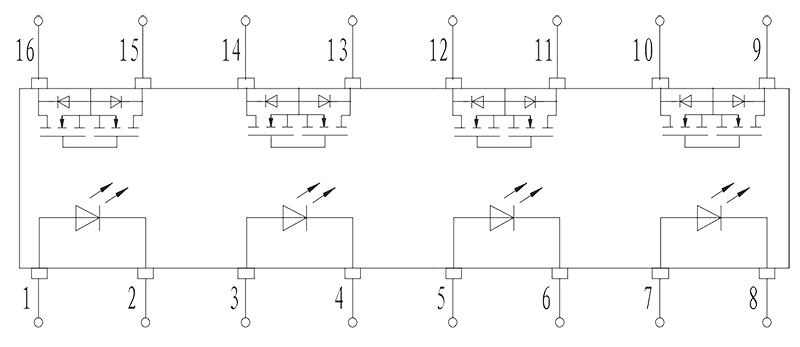 JGC30314JG0.5 1 Internal circuit diagram - JGC-3031 (4JG0.5-1) Optical-MOS Relay
