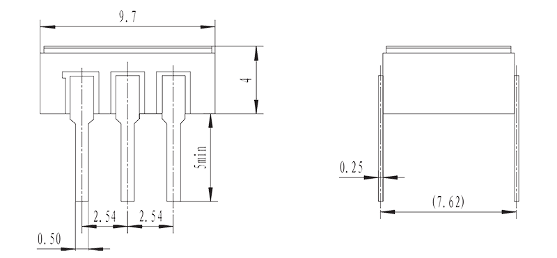 JGW 3011 Drawing - JGW-3011 Optical-MOS Relay