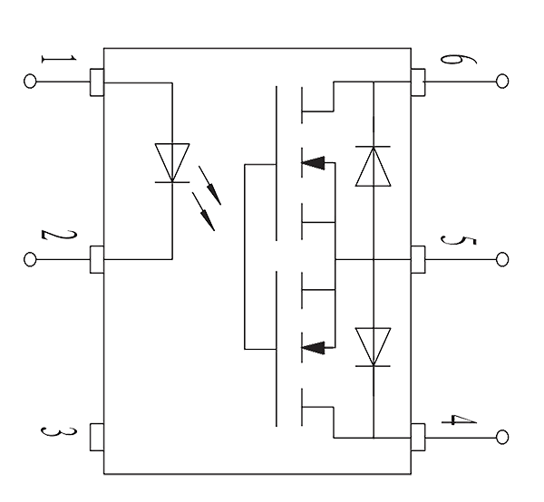 JGW 3011 Internal circuit diagram - JGW-3011 Optical-MOS Relay