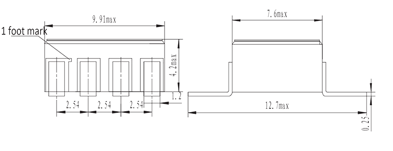 JGW 3015 Drawing SMD - JGW-3015 Optical-MOS Relay