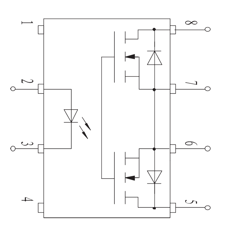 JGW 3015 Internal circuit diagram - JGW-3015 Optical-MOS Relay