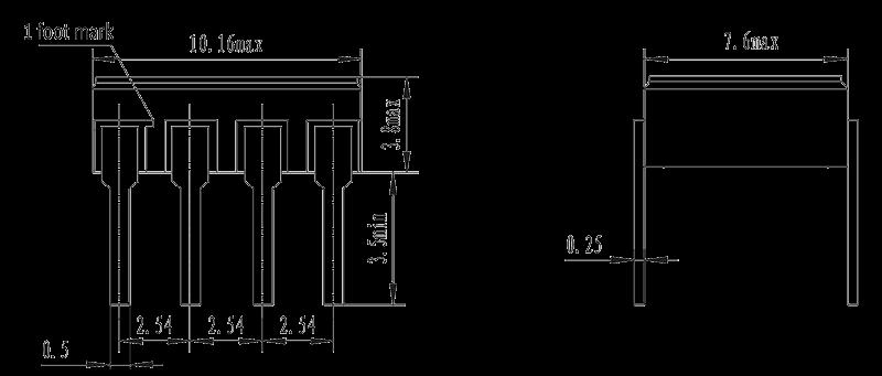 JGW 3023 Drawing - JGW-3023 Optical-MOS Relay