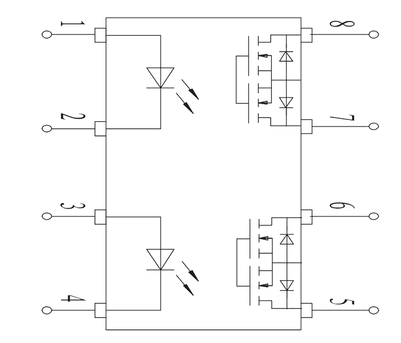 JGW 3023 Internal circuit diagram - JGW-3023 Optical-MOS Relay