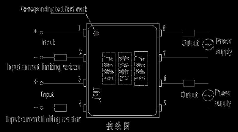 JGW 3023 Overhead wiring diagram - JGW-3023 Optical-MOS Relay