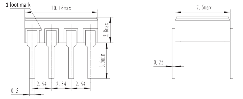 JGW 3023A Drawing - JGW-3023A Optical-MOS Relay