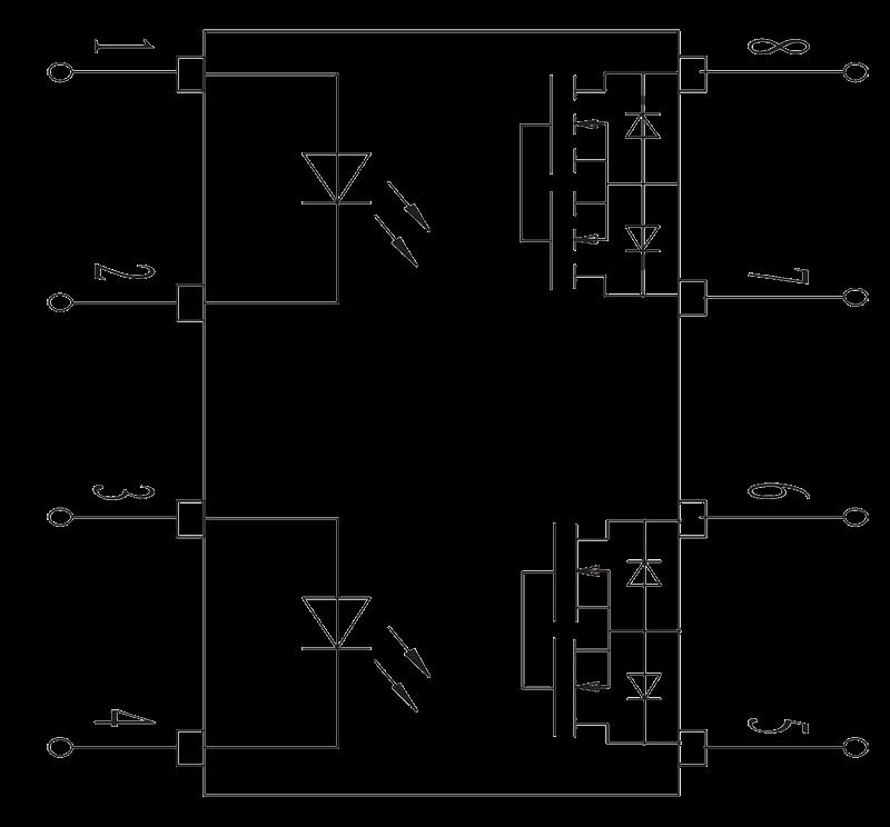 JGW 3023A Internal circuit diagram - JGW-3023A Optical-MOS Relay