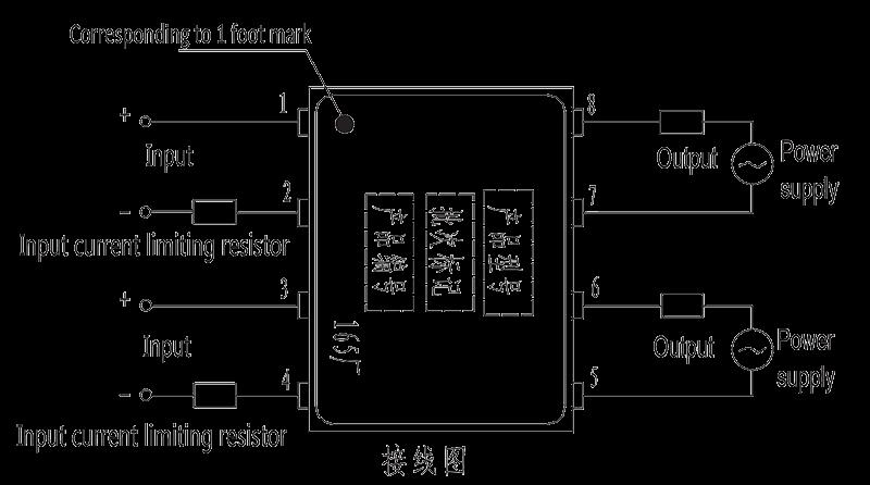 JGW 3023A Overhead wiring diagram - JGW-3023A Optical-MOS Relay