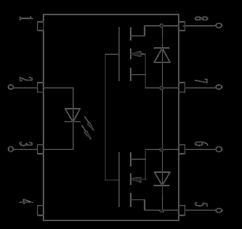 JGW 3M 1JG0.8 1 Internal circuit diagram - JGW-3M (1JG0.8-1) Optical-MOS Solid State Relay