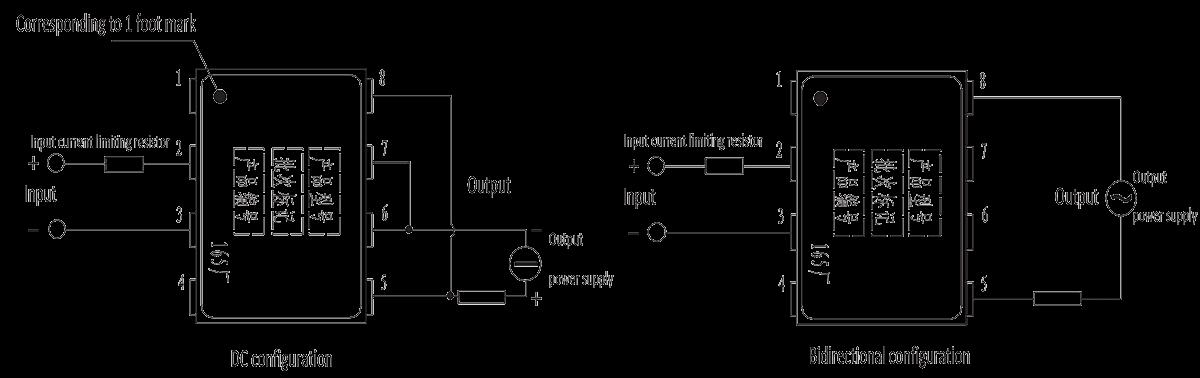 JGW 3M 1JG0.8 1 Overhead wiring diagram - JGW-3M (1JG0.8-1) Optical-MOS Solid State Relay