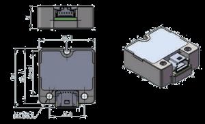 MSI313B Dimension 300x182 - MSI313B Micro Inertial Measurement Unit