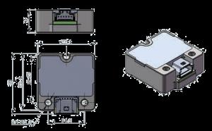 MSI313C Dimension 300x186 - MSI313C Micro Inertial Measurement Unit