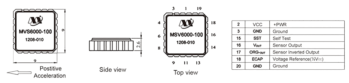 MSV6000 structure - MSV6000 Variable Capacitance Accelerometer