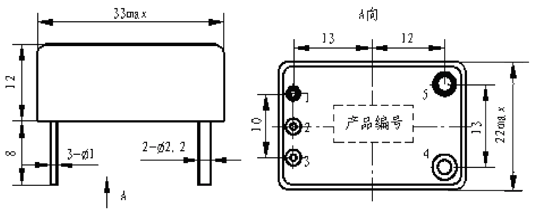 Mechanical drawings - 1JG20-1 DC Solid State Relay