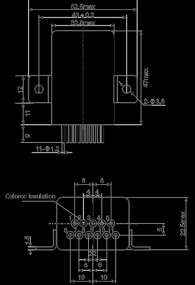 Mechanical drawings 02 - 1JS-4 Hybrid Delay Relay