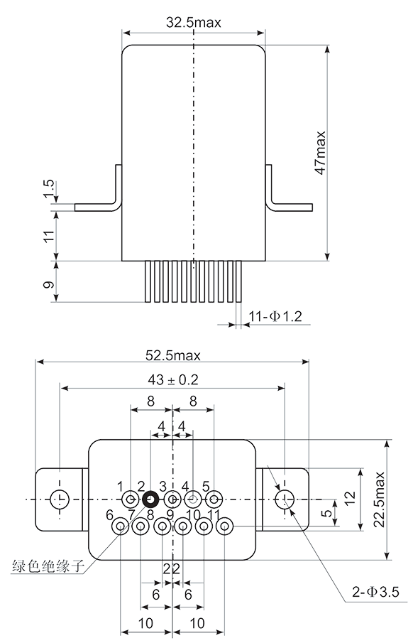Mechanical drawings 05 - 1JS-4 Hybrid Delay Relay
