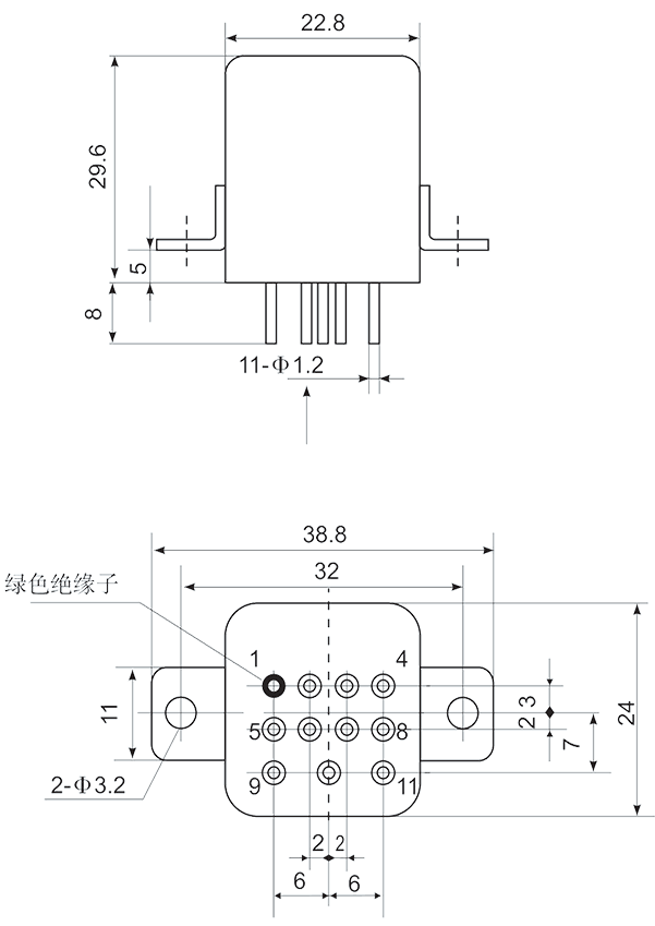 Mechanical drawings Installation method C2 - 1JS-7A Hybrid Time Delay Relays