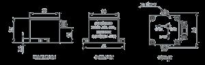 OS series Telemetry Sensor Dimensions 300x96 - OS series Telemetry Overload Sensor