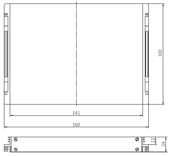 PDMK 3U Installation dimension - PDMK-3U Solid State Power Controller Module