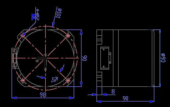 SD201 Mechanical Drawings - SD201 Low Precision Fiber Inertial Measurement Unit