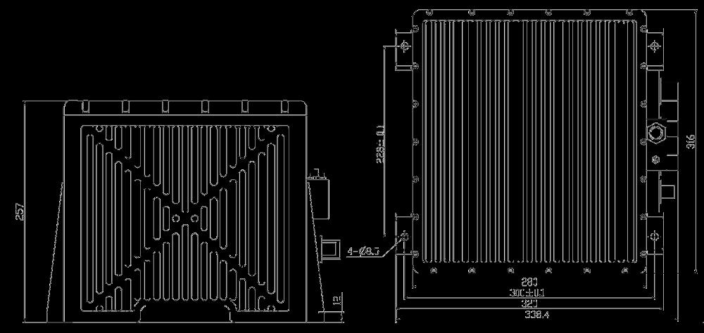 SD231 Mechanical Drawings - SD231 High Precision Optical Fiber Inertial Navigation System