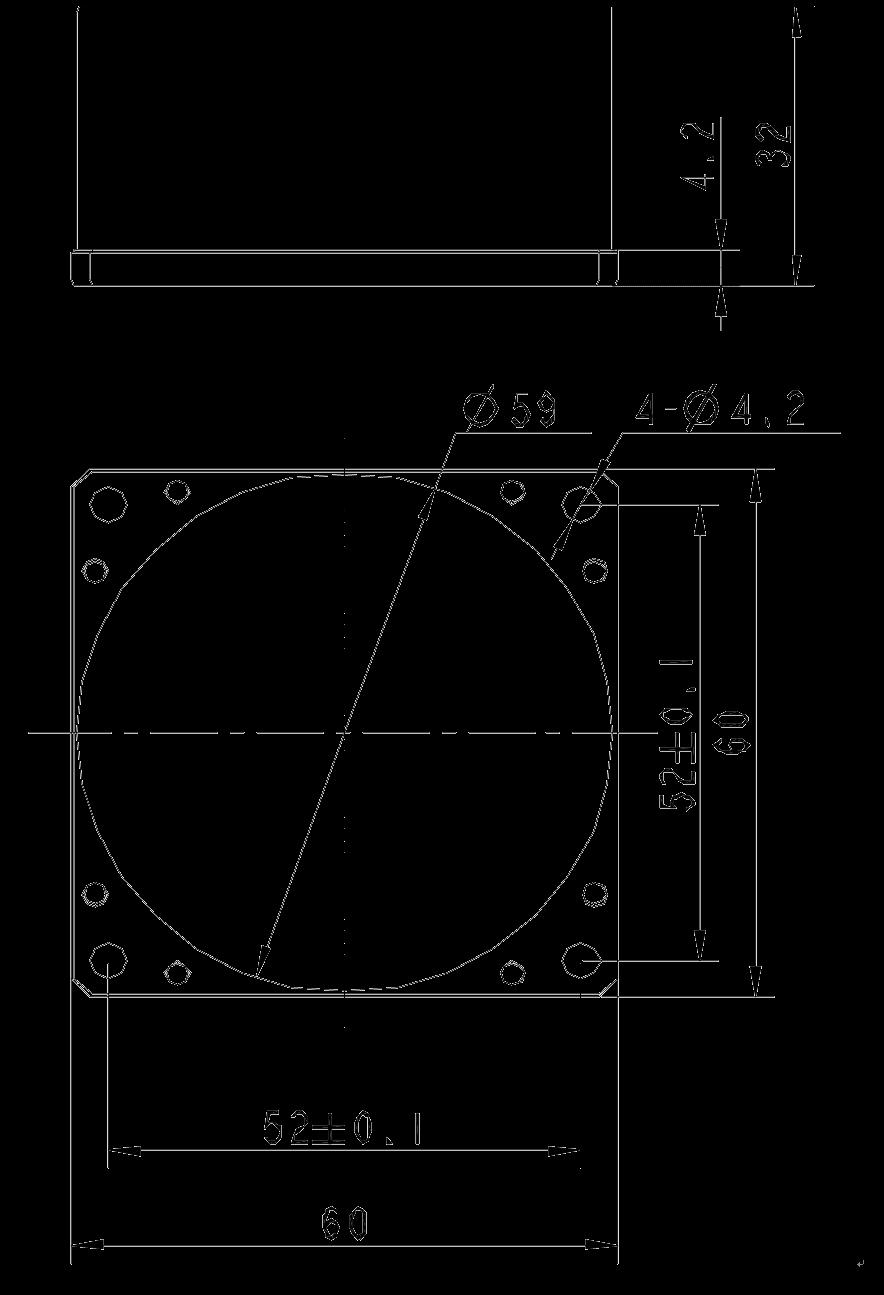 SD311 Mechanical Drawings - SD311 Single-axis Fiber Optic Gyroscope