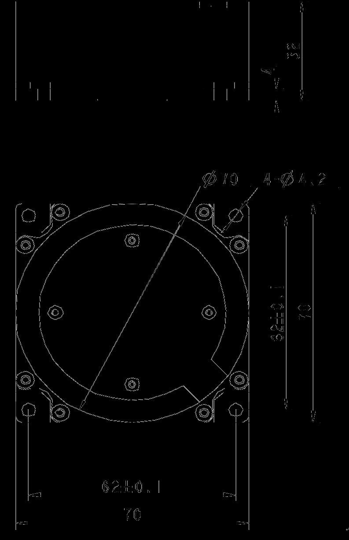 SD312 Mechanical Drawings - SD312 Single-axis Fiber Optic Gyroscope