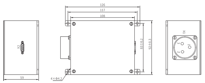TZ220AC 50 Installation dimension unit mm - TZ220AC-50 AC Intelligent Power Distribution Module