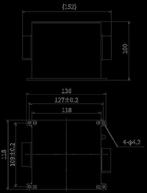 TZ380AC 100 Installation dimension - TZ380AC-100 AC Intelligent Power Distribution Module