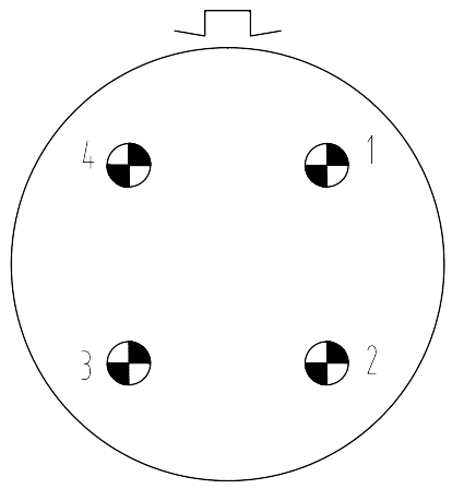 Y16 contact arrangement 2404 - Y16 Series Circular Connector
