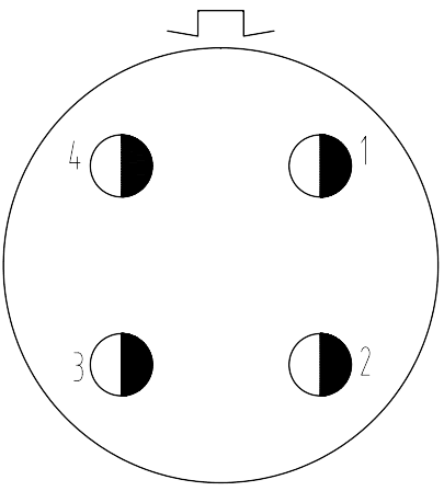 Y16 contact arrangement 2404I - Y16 Series Circular Connector