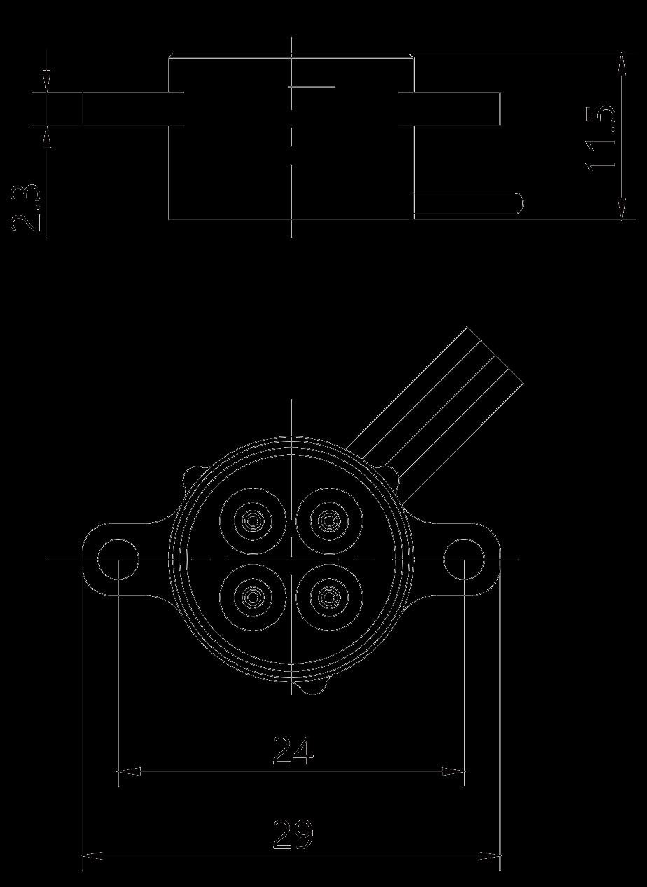 Y26H 4TKL plug Product drawing - Y26H Series Circular Connector