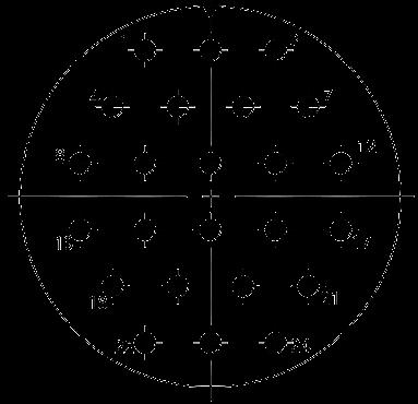 Y27B Contact arrangement 85 - Y27 Series Circular Connector