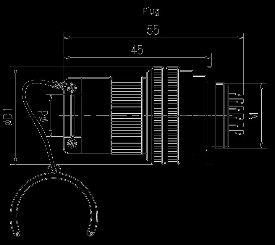 Y3 Drawings - Y3 Series Circular Connector