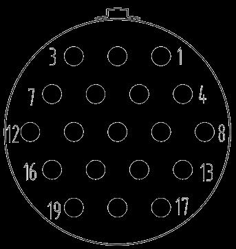 Y3 contact arrangement 19pin - Y3 Series Circular Connector