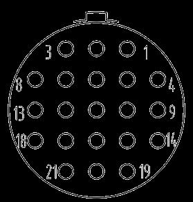 Y3 contact arrangement 21pin - Y3 Series Circular Connector