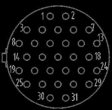 Y3 contact arrangement 31pin - Y3 Series Circular Connector