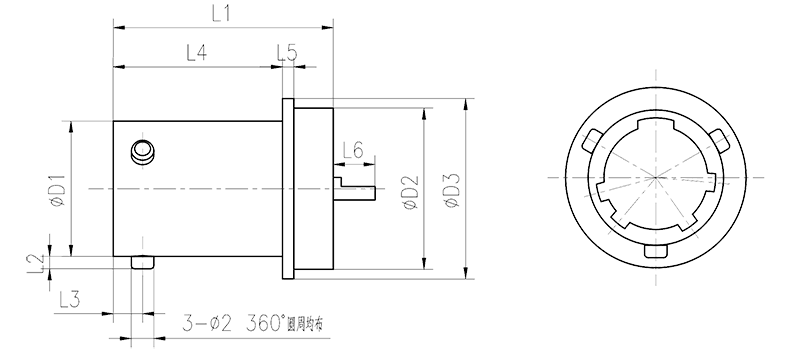 YQ2 drawings Round Flange Receptacle - YQ2 Series Circular Connector