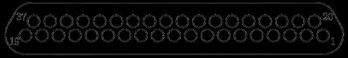 j29a Contact arrangements 37 - J29A Series Rectangular Connector