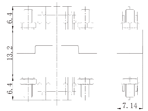 j43 Assembly drawing 1 - J43 Series Rectangular Connector