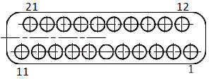 j63a Contact arrangements 21 pins - J63A Series Rectangular Connector