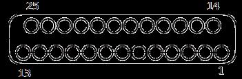 j63a Contact arrangements 25 pins - J63A Series Rectangular Connector