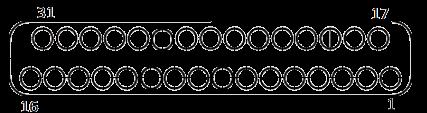 j63a Contact arrangements 31 pins - J63A Series Rectangular Connector