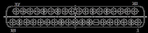 j63a Contact arrangements 37 pins - J63A Series Rectangular Connector