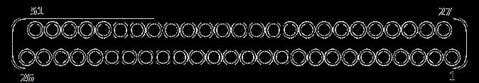 j63a Contact arrangements 51 pins - J63A Series Rectangular Connector