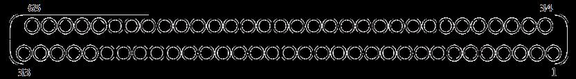 j63a Contact arrangements 65 pins - J63A Series Rectangular Connector