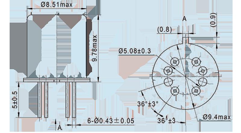 jpw 130mq dimension - JPW-130MQ TO-5 Relay