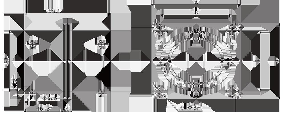 y11 Wall mount square flange receptacle - Y11 Series Circular Connector