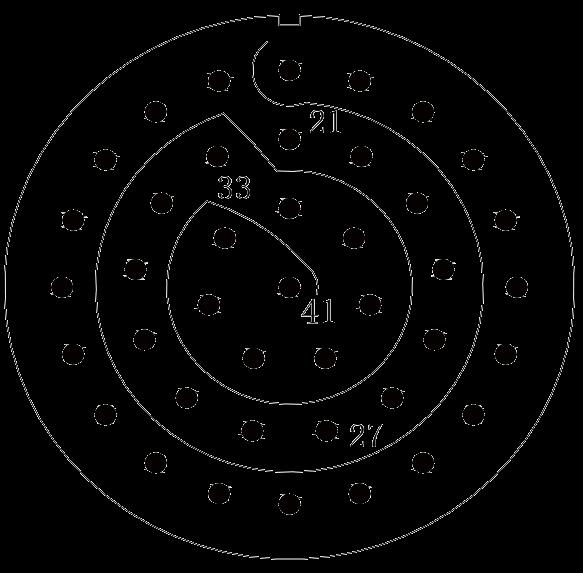 y11 contact arrangement 31 - Y11 Series Circular Connector