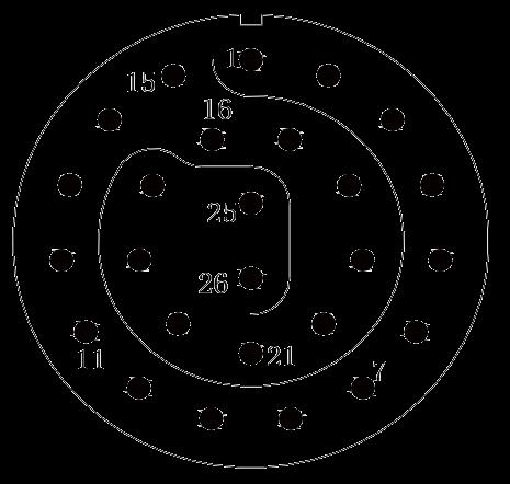 y11 contact arrangement 34 - Y11 Series Circular Connector