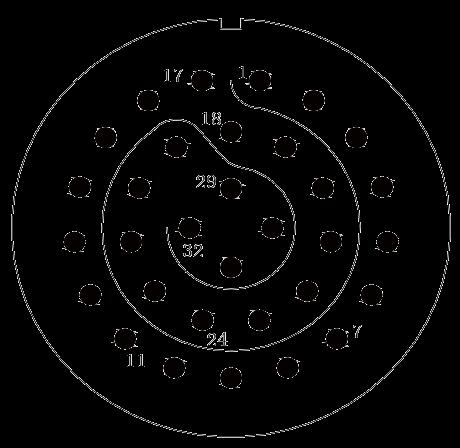 y11 contact arrangement 35 - Y11 Series Circular Connector
